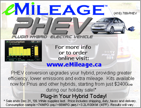 eMileage Advertisement - Convert your Prius to a PHEV Today!